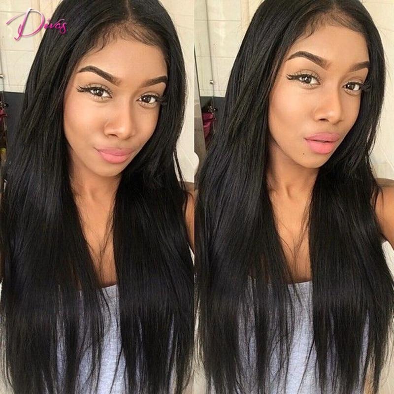 7A Italian Yaki font b Straight b font Lace Wig Full Lace Human font b Hair
