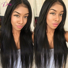 7A Italian Yaki Straight Lace Wig Full Lace Human Hair Wigs With Baby Hair Brazilian Virgin Hair Lace Front Wigs For Black Women