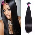7а роза для волос 3 шт./лот бразильский девственные волосы 100% бразильские человеческие волосы ткать пучки бразильские прямые волосы