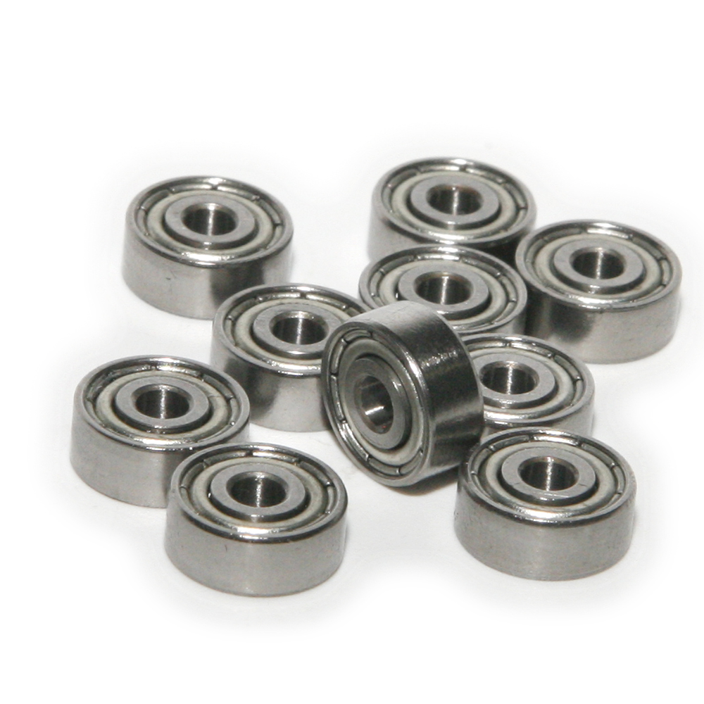 10pcs HCS Deep V Groove Sealed Guide Line Track Pulley Ball Bearing 3*12*4mm
