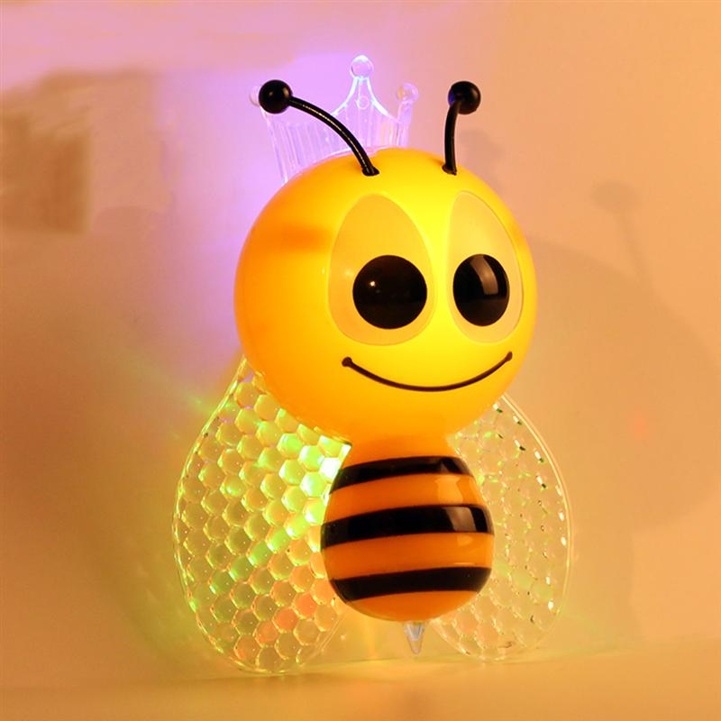 Bee Design Night Light Lamp Light-Controll Wall Nightlight for Baby and Toddlers with EU Plug