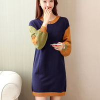 5723 5723 To Film In The New Round Collar Long Spell Color Turtleneck Sweater 56 5