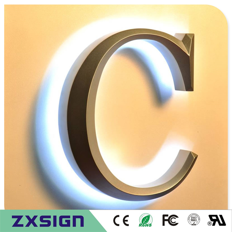 Factory Outlet Outdoor Advertising 3D Metal Letter Sign, Coffee Restaurant Shop Signs