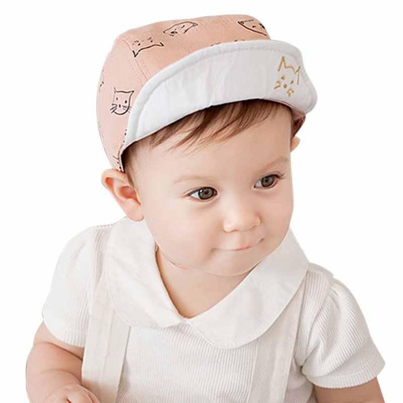 New Infantile Del Bambino Del Capretti Del Bambino del Gatto Cap Cofano Del Cappello Del Cappello del Cotone All'aperto Vestito Cappelli da Sole 4 M-18 M