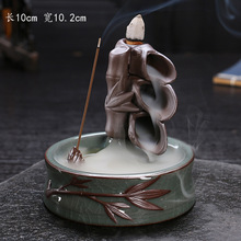 Authentic Purple Clay Smoke Backflow Incense Burner Ceramic Ge kiln Sandalwood Censer Home Decor Yoga supplies Creative Gift New