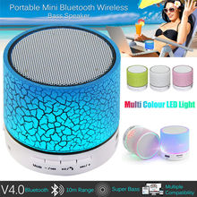KT A9 Mini Wireless Speaker Super Bass Bluetooth Speaker LED Portable Speaker Subwoofer Loudspeakers PK xiaomi Bluetooth Speaker
