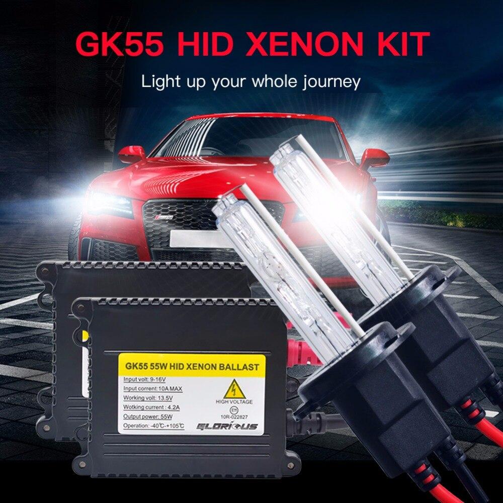 Xenón H4 H7 H1 H3 H8 H9 H11 9005 9006 881 digital lastre xenon hid kit 4300 K 6000 K 8000 K D2S lámpara de xenón AC 55 W 12 V