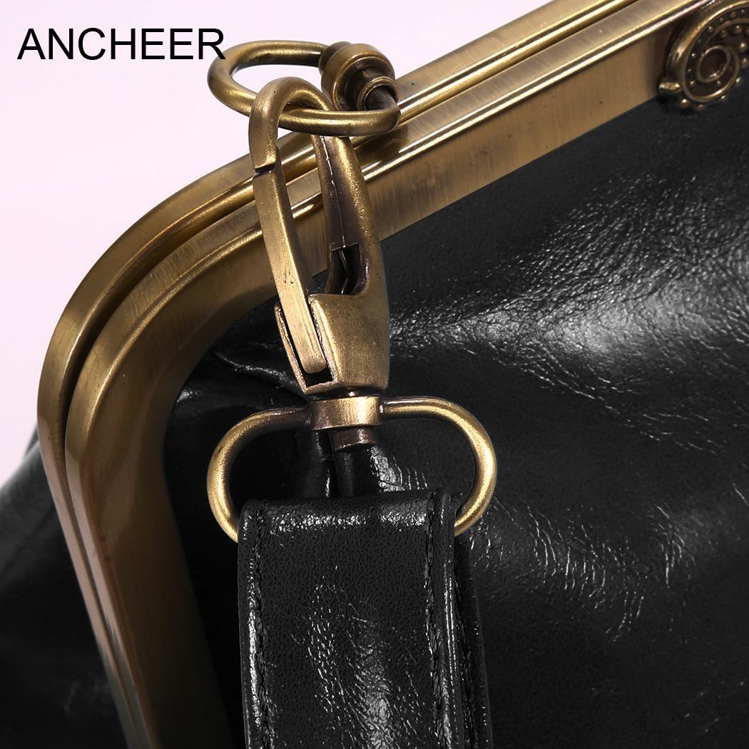 Adjustable Retro Style Women Strap Clasp Closure Solid Shoulder Bag