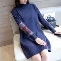 2017 новый элегантный свитер материнства платье мода трикотажные пуловеры одежда для беременных беременность одежда