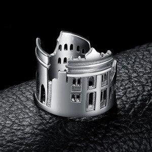 Image 2 - JewelryPalace 925 пробы серебро Винтаж World Travel сувенир Мрамор арки регулируемое Открытое кольцо Новая горячая Распродажа как красивый подарок