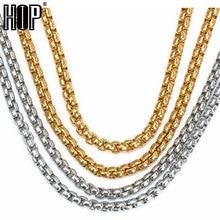 cdaf73e1b2fc HIP Width 2mm 3mm 4mm Gold Silver Black 316L Stainless Steel Necklace Men  Box