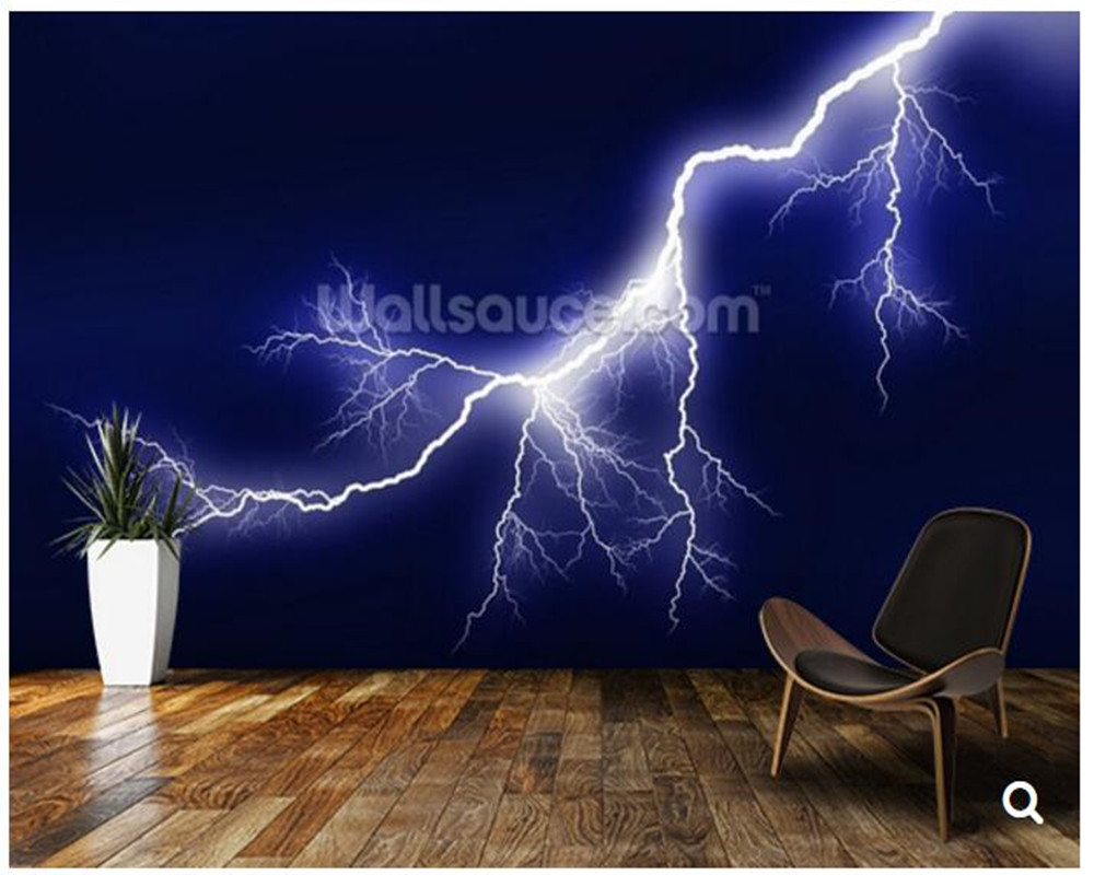 Custom Nature wallpaper.Lightning,3D photo mural for living room bedroom dining room backdrop waterproof papel de parede custom 3d photo wallpaper 3d stereoscopic green forest mural for living room bedroom tv backdrop waterproof papel de parede