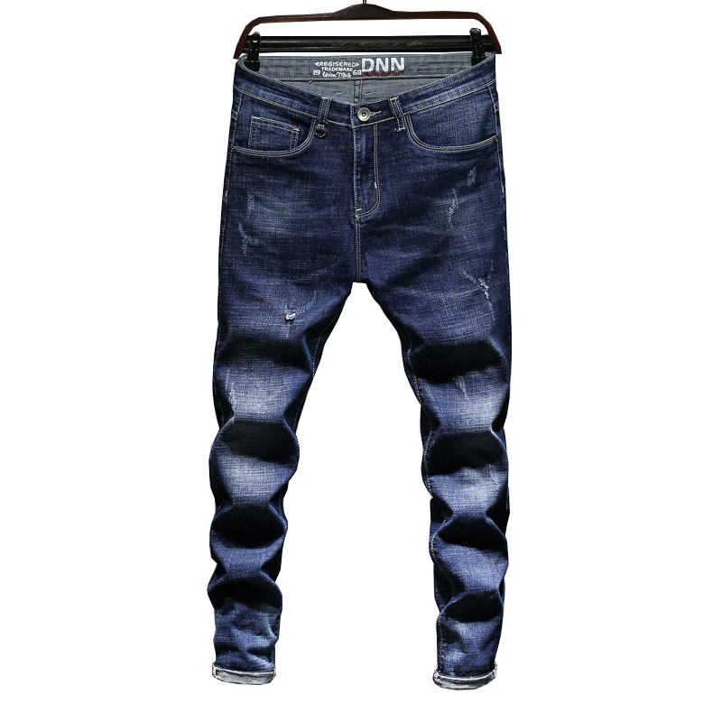2018 New Teenagers Brand Stretch Jeans Mens Pants Slim Mans Jean Denim Student Pant Trousers Fashion Tide Spring and Autumn