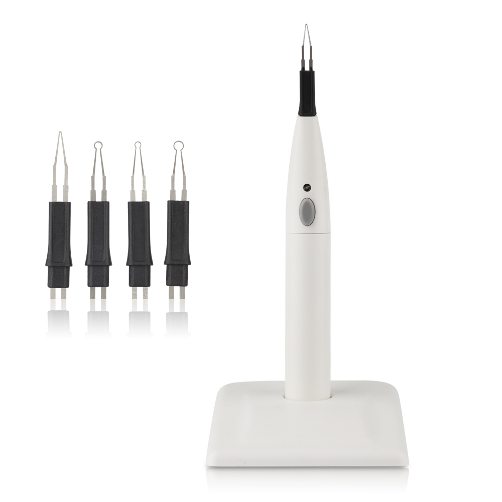 Dental Gutta Percha Tooth Gum Cutter Endo Gutta Teeth Whitening Percha Dissolved Breaker Cutter With 4 Tips 1pcs dental heated tip dental pen heated tip needles for endodontic root obturation endo systemteeth whitening