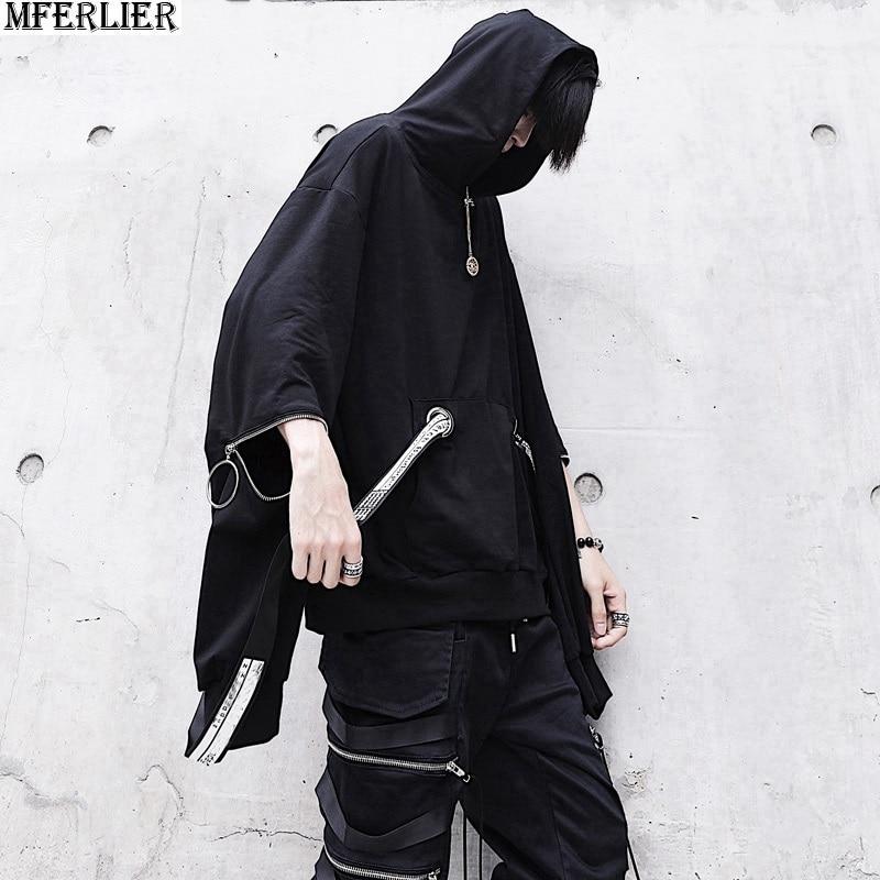 MFERLIER men sweatshirt Hip-hop japanese style High Street dance autumn hooded hoodie Hipster fashion Sweatshirts personali 2018