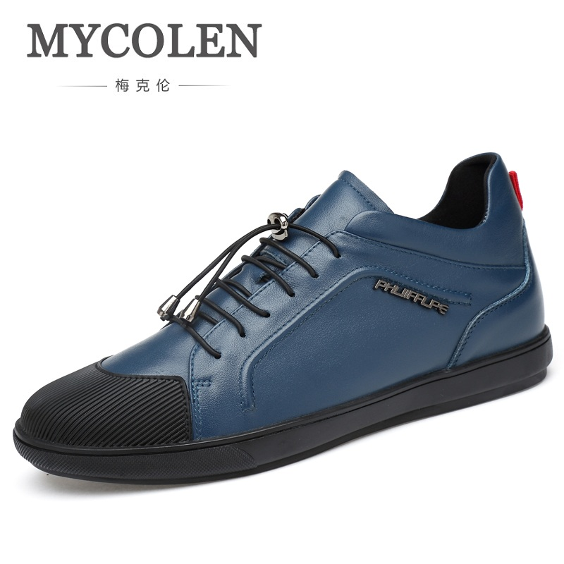 MYCOLEN Men Flats Genuine Soft Leather Casual Shoes Flat Mens Daily Leisure Elastic Band Sneakers Shoe Chaussures HommesMYCOLEN Men Flats Genuine Soft Leather Casual Shoes Flat Mens Daily Leisure Elastic Band Sneakers Shoe Chaussures Hommes
