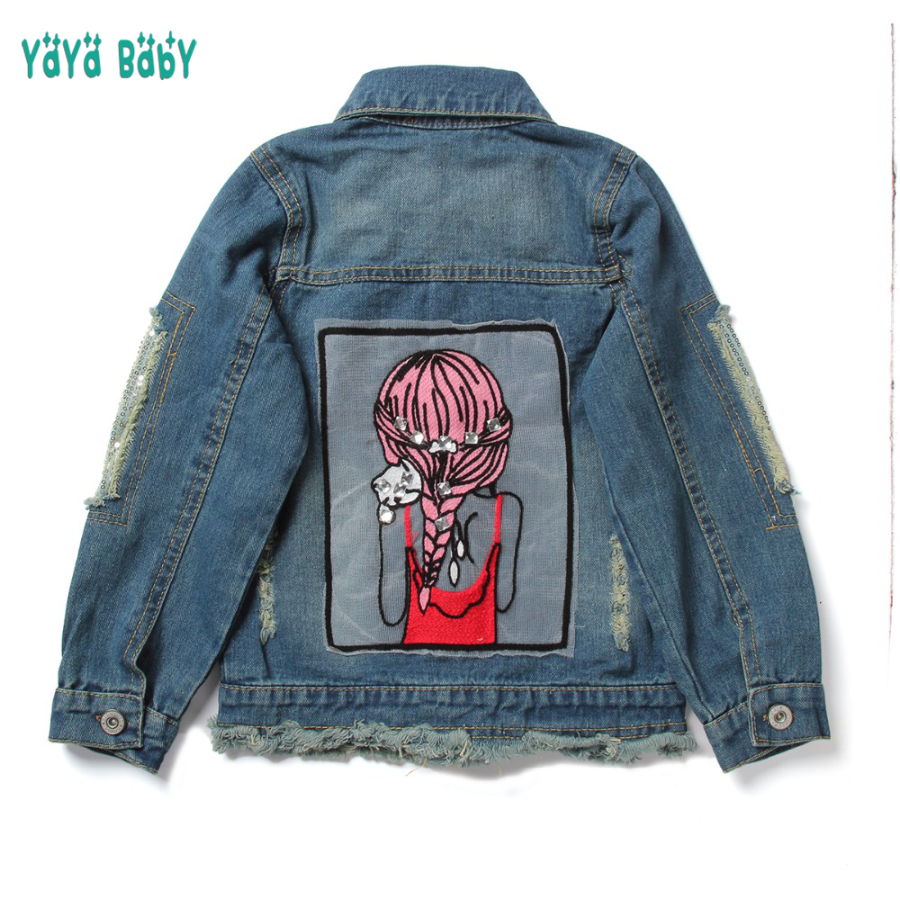 9b3d9b0b2dca 3 4 5 6 7 8 9 10 11 12 13 Year Girls Denim Coat 2019 New Cartoon ...