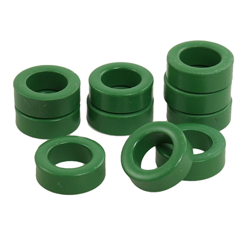 Promotion! 22mm x 14mm x 8mm Power Transformer Ferrite Toroid Cores Green 10 Pcs transformers ferrite toroid cores green 74mm x 39mm x 13mm
