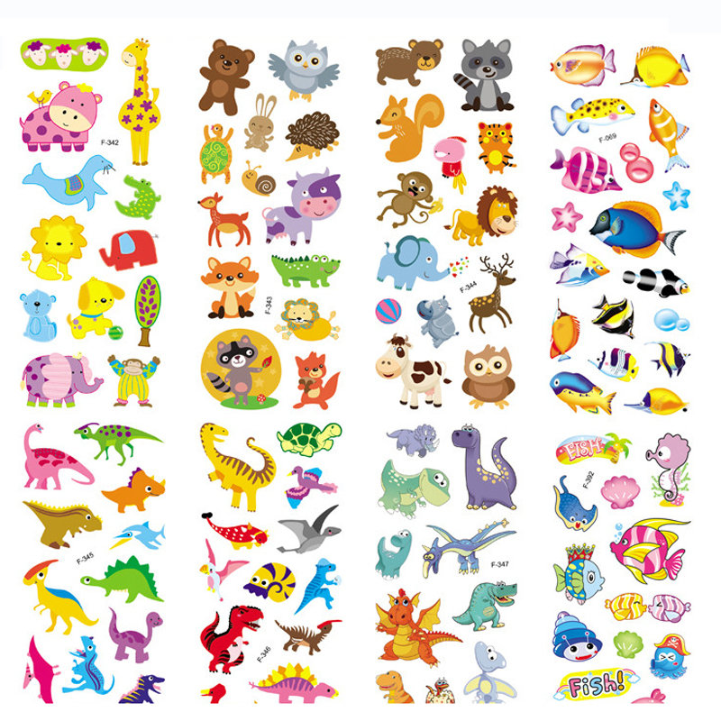 6pcs/lot 3D Puffy Bubble Stickers Cartoon Foam Fish dinosaurs Stickers for Kids Cute DIY Craft Scrapbook refrigerator Stickers