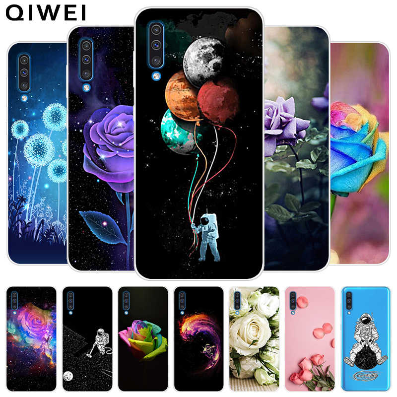 For Samsung Galaxy A50 Case Slim Clear Flowers Cactus Soft Silicon Phone Cases Cover For Samsung A50 A 50 A505 tpu funda 6.4''