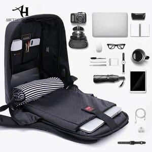 2c4559fa9 ARCTIC HUNTER USB charging Men 15inch Laptop Backpacks For Teenager Fashion  Male Mochila Leisure Travel backpack