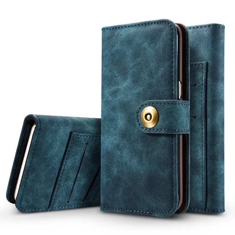 Für iPhone 5 s se 7 Fall Luxus Vintage Magnet Abnehmbare Leder Flip Silikon Fall für iPhone 6 6 S 7 Plus Brieftasche Abdeckung fall