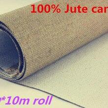 2,1 м* 10 м лучшее качество джут грунтованный холст пустой рулон для художников