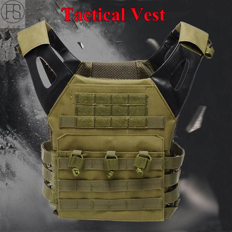 Hot Sale Airsoft Tactical Military Equipment Molle Combat Carrier Vest Shooting Tactical Vest CS War Game Outdoor Hunting Vest