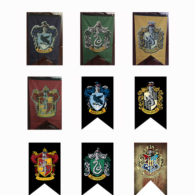 Aliexpress com : Buy 2018 Harry Potter Party Supplies College Flag Banners  75*125cm for Boys Girls Kids Party Supplies from Reliable Flags, Banners &