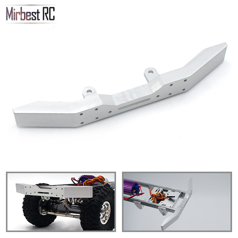 Upgrade Replacement Spare <font><b>Parts</b></font> Metal Front Bumper For WPL/ <font><b>JJRC</b></font> B14 B16 Q60 <font><b>Q61</b></font> RC Car Silver Remote Control Accessories Durabl image