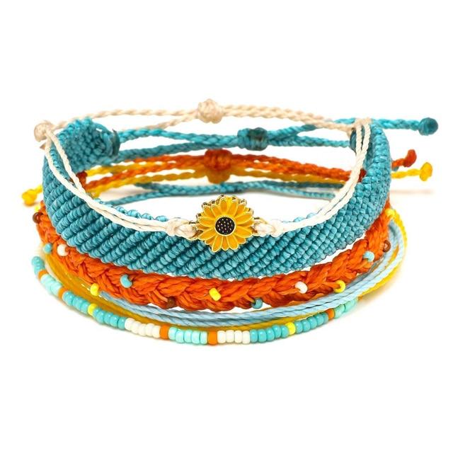 Impermeable string Dreaming Outloud Pack girasol encanto pulsera hecha a mano semillas cuentas amistad pulsera mujer verano
