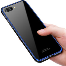 For Huawei Honor 10 Case Luxury Aluminum Metal Bumper for Transparent Clear Glass Cover Honor10