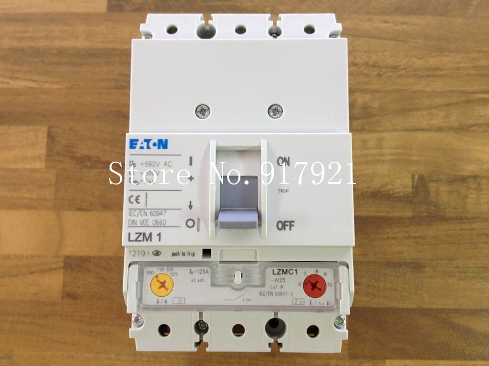 [ZOB] Muller MOELLER Eaton LZMC1-A125 circuit breaker 3P125A adjustable 100-125A original