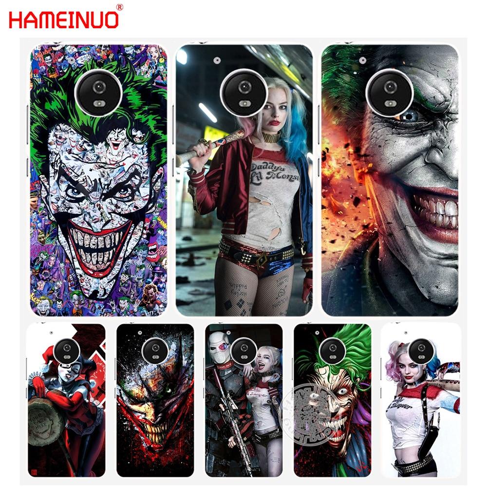 HAMEINUO suicide squad Joker harley quinn Margot Robbie case cover for Motorola Moto G6 G5 G5S G4 PLAY PLUS ZUK Z2 pro BQ M5.0