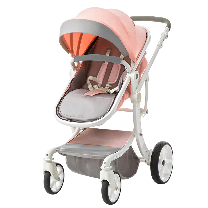 цена Teknum baby stroller folding baby child four seasons general newborn stroller baby brand leather stroller 2 in 1 baby car