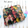 kai yunon Women Painting Flowers Leather Crossbody Handbag Tote Bags Purse  Sep 7