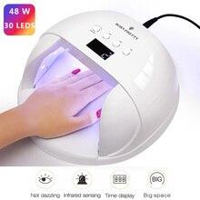 BORN PRETTY 36W/48W UV LED Lamp For Nails Dryer UV Gel Polish Curing  30/60/90s Machine 12/30 LEDS LCD Display Nail Lamp недорого