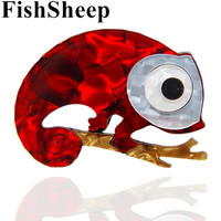 FishSheep Новые Акриловые броши в виде ящериц для женщин модная Милая Смола животное геккон брошь и булавка корсаж с украшениями подарки