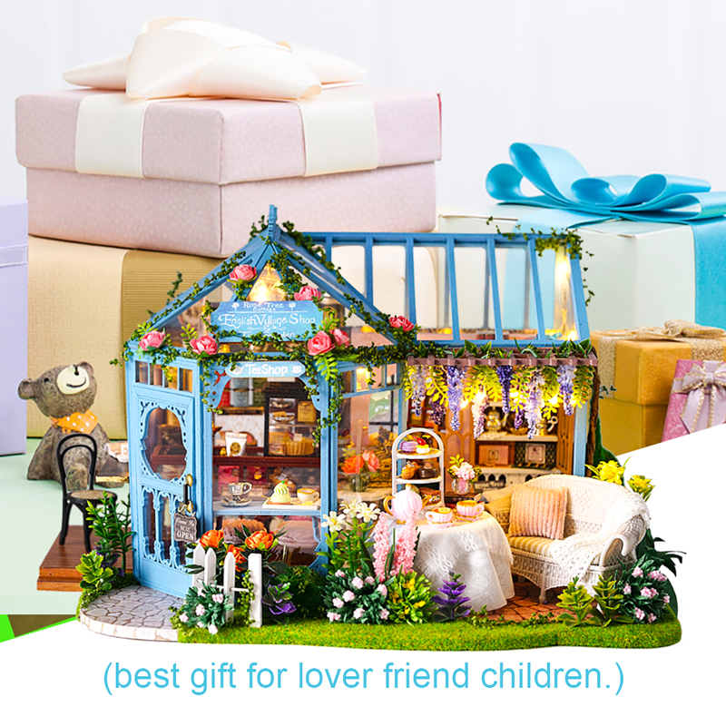 cutebee diy casa em miniatura com moveis 01