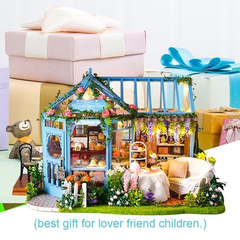 cutebee diy casa em miniatura com moveis