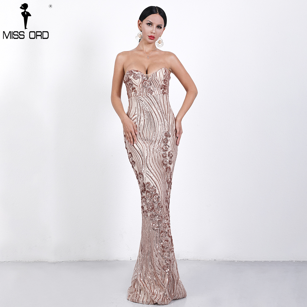 68c820d846a Missord 2019 Sexy Spring and Summer Off Shoulder Sequin Dresses Female  Backless Elegant Maxi Reflective Dress Vestdios FT9002 3-in Dresses from  Women s ...