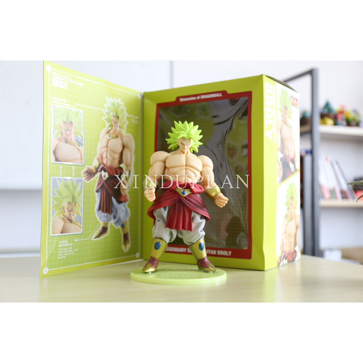 XINDUPLAN Dragon Ball Z Action Anime Movie Dragonball Broli Son Goku Super Saiyan three Action Figure Toys 25cm PVC Model 0132 dragon ball z broli 1 8 scale painted figure super saiyan 3 broli doll pvc action figure collectible model toy 17cm kt3195