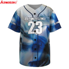 Kawasaki Custom Men's Classic Fans Baseball Jersey Practice Top Breathable Quick Dry Sports Training Softball Jerseys Shirt(China)