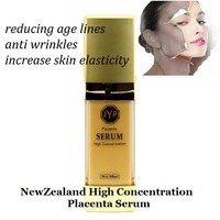 100%NewZealand High Concentration Quality Sheep Placenta Serum Reducing age lines &wrinkles Increase skin suppleness elasticity