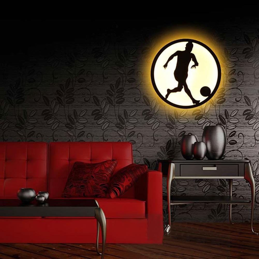 ФОТО Modern Sconce Lighting Football Wall Mounted Bedside Reading Light Creative Wall Lamp Living Room Home Lighting Sconces