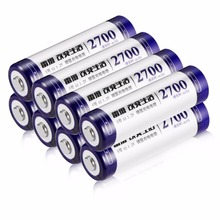 8pcs/lot LEISE AA Ni-MH Rechargeable Batteries 2700mAh High Capacity Series For Remote Control Toys/ Camera/ Microphone