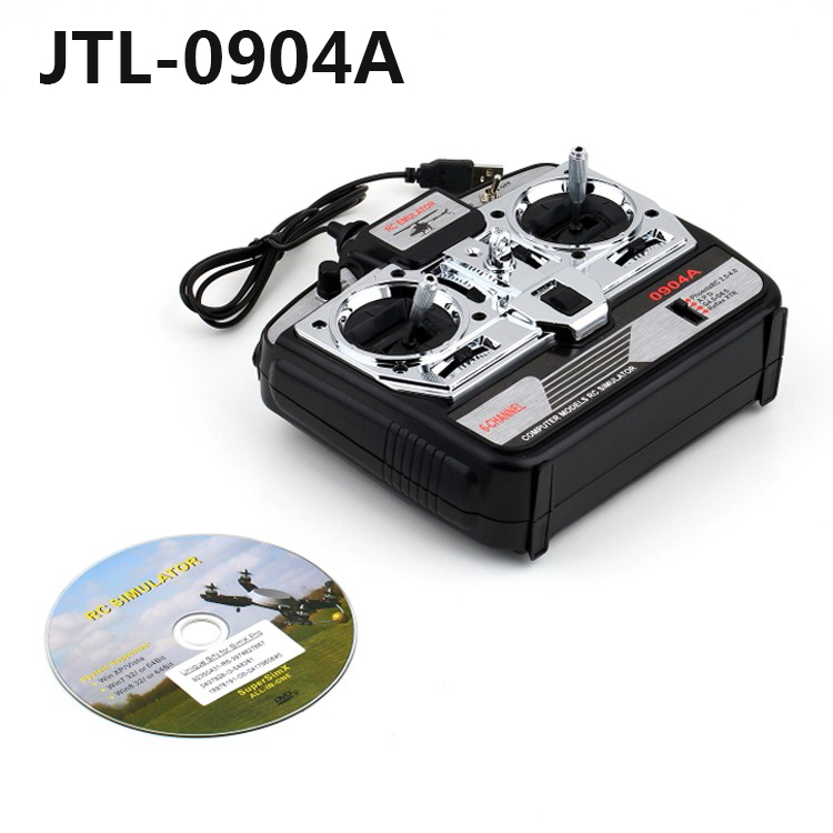 Free shipping OCDAY 6CH XTR RC Flight Simulator 6 CH JTL-0904A Airplane CD JTL0904A remote control simulator ...