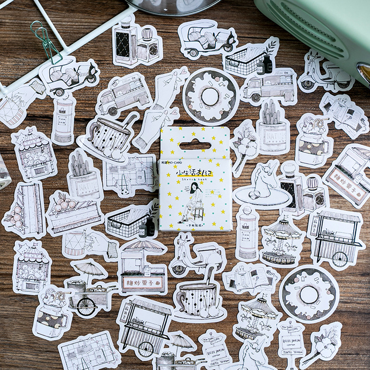 Simple Life Stickers Set Decorative Stationery Stickers Scrapbooking DIY Diary Album Stick Lable