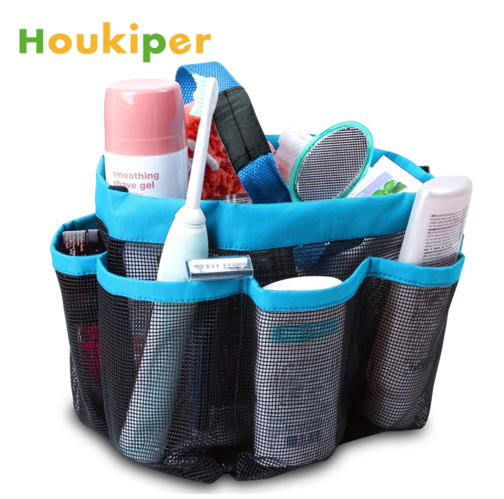 Houkiper Quick Dry Mesh Fabric Shower Tote Storage Bag Bathroom ...