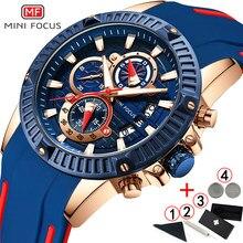 ae9bebebf8af Relojes para hombre marca de lujo Mini enfoque moda deporte cronógrafo de  la muñeca de los